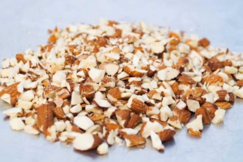 Chopped almond pieces