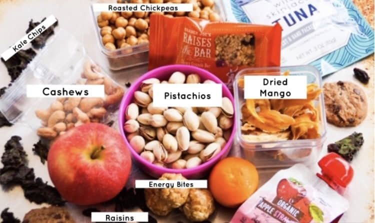 Foods that travel well, labeled