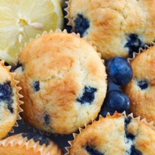 Lemon Blueberry Muffins on a plate