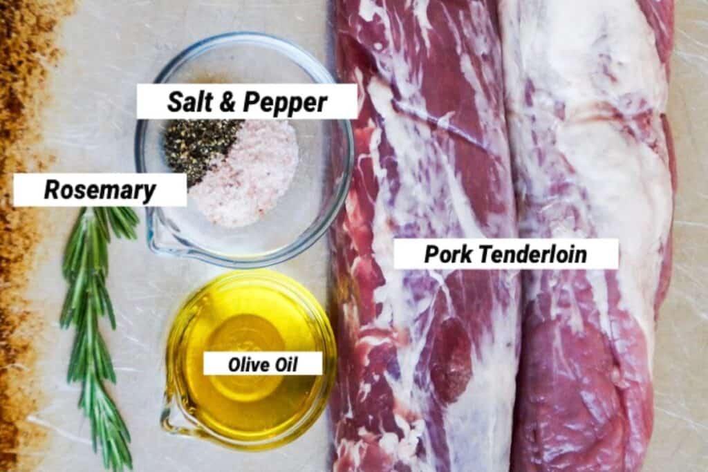 pork tenderloin ingredients, labeled